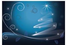 голубая рождественская елка Стоковые Фото