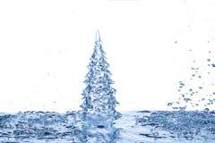 голубая рождественская елка Стоковое Изображение RF
