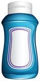 Голубая родовая бутылка иллюстрация штока