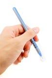 Голубая ручка изолированная на белой предпосылке Стоковая Фотография RF