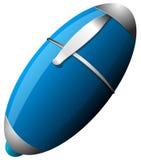 Голубая ручка изолированная на белой предпосылке Стоковое фото RF