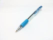 Голубая ручка шариковой авторучки Стоковая Фотография RF