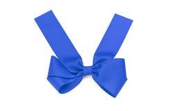 голубая сатинировка смычка Стоковая Фотография RF