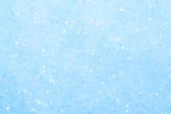 Голубая сверкная предпосылка снега. Стоковое Изображение
