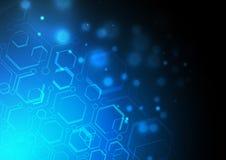 Голубая светлая geomatic предпосылка Стоковые Изображения RF