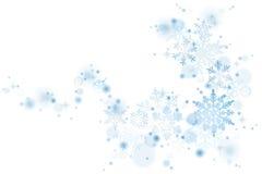 Голубая свирль снежинок бесплатная иллюстрация