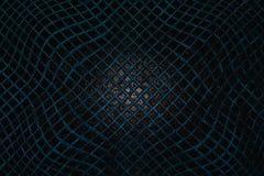 Голубая сетка на воде, абстрактная предпосылка решетки, поверхность воды, Стоковое Изображение RF