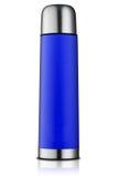 Голубая склянка thermos Стоковые Фото