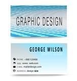 Голубая современная визитная карточка Иллюстрация вектора