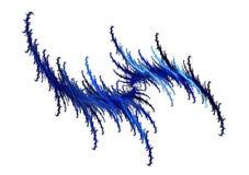Голубая современная фракталь Стоковые Изображения RF