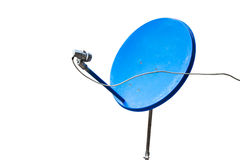 Голубая спутниковая антенна-тарелка Стоковые Фотографии RF
