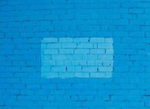 Голубая стена кирпичей Стоковые Фото