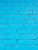 Голубая стена кирпичей Стоковое фото RF
