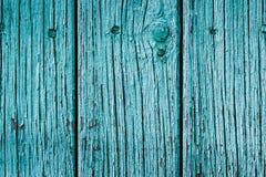 Голубая стена металлической пластинкы старого амбара Стоковое фото RF