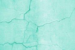 Голубая стена, текстура покрашенной предпосылки улицы цемента Стоковая Фотография RF