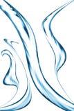 Голубая струя воды, брызгая стоковые фото