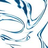 Голубая струя воды, брызгая Стоковое Изображение RF