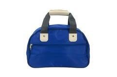 Голубая сумка женщины Стоковые Изображения