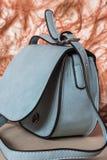 Голубая сумка, чувствительный и женственный Стоковые Изображения RF