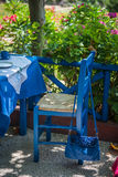 голубая сумка Стоковое фото RF