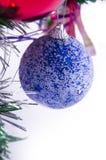 Голубая сфера украшения рождества Стоковая Фотография RF