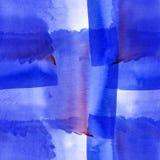 Голубая текстура акварели Стоковые Изображения