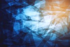 Голубая текстура градиента треугольника Стоковые Фото