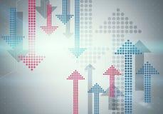 Голубая текстура градиента треугольника Стоковое Изображение