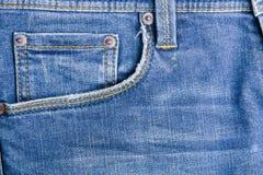 голубая текстура джинсыов джинсовой ткани голубая текстура ткани демикотона Backgr джинсов Стоковое Изображение