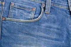 голубая текстура джинсыов джинсовой ткани голубая текстура ткани демикотона Backgr джинсов Стоковая Фотография