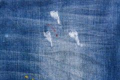 голубая текстура джинсыов джинсовой ткани голубая текстура ткани демикотона Backgr джинсов Стоковое фото RF