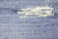 голубая текстура джинсыов джинсовой ткани Стоковые Изображения
