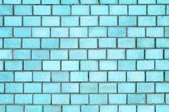 Голубая текстура кирпичной стены, камень предпосылки цвета Стоковые Фотографии RF