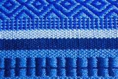 Голубая текстура ковра, предпосылка Стоковое Фото