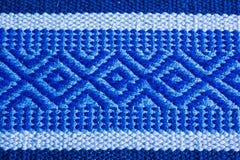 Голубая текстура ковра, предпосылка Стоковая Фотография