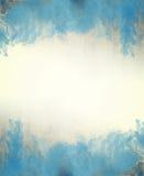 Голубая текстура предпосылки конспекта акварели Стоковое Фото