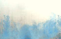 Голубая текстура предпосылки конспекта акварели Стоковые Фото