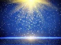 Голубая текстура предпосылки рождества Стоковое Фото