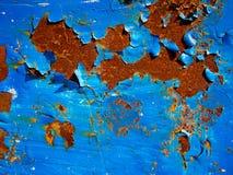 голубая текстура ржавчины Стоковое фото RF