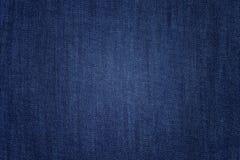 Голубая текстурированная джинсовая ткань Стоковые Изображения RF