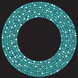 Голубая текстурированная картина Sequins предпосылки безшовная Стоковое Изображение