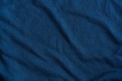 Голубая текстурированная ткань Стоковые Фотографии RF