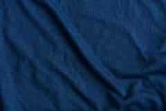 Голубая текстурированная ткань Стоковое Изображение