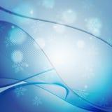 Голубая тема рождества конспекта волны Стоковое Изображение