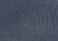 голубая темная текстура джинсыов Стоковые Изображения RF