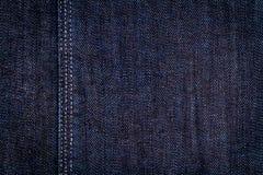 голубая темная текстура джинсыов Стоковая Фотография