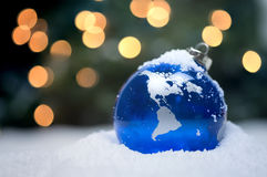 голубая тень орнамента иллюстрации цветка рождества Стоковые Изображения RF