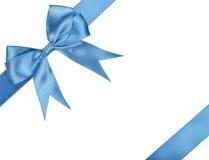 голубая тесемка смычка стоковая фотография rf