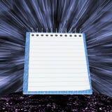Голубая тетрадь с прокладками Стоковые Фотографии RF