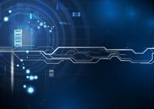 Голубая технология цепи предпосылки Стоковая Фотография RF